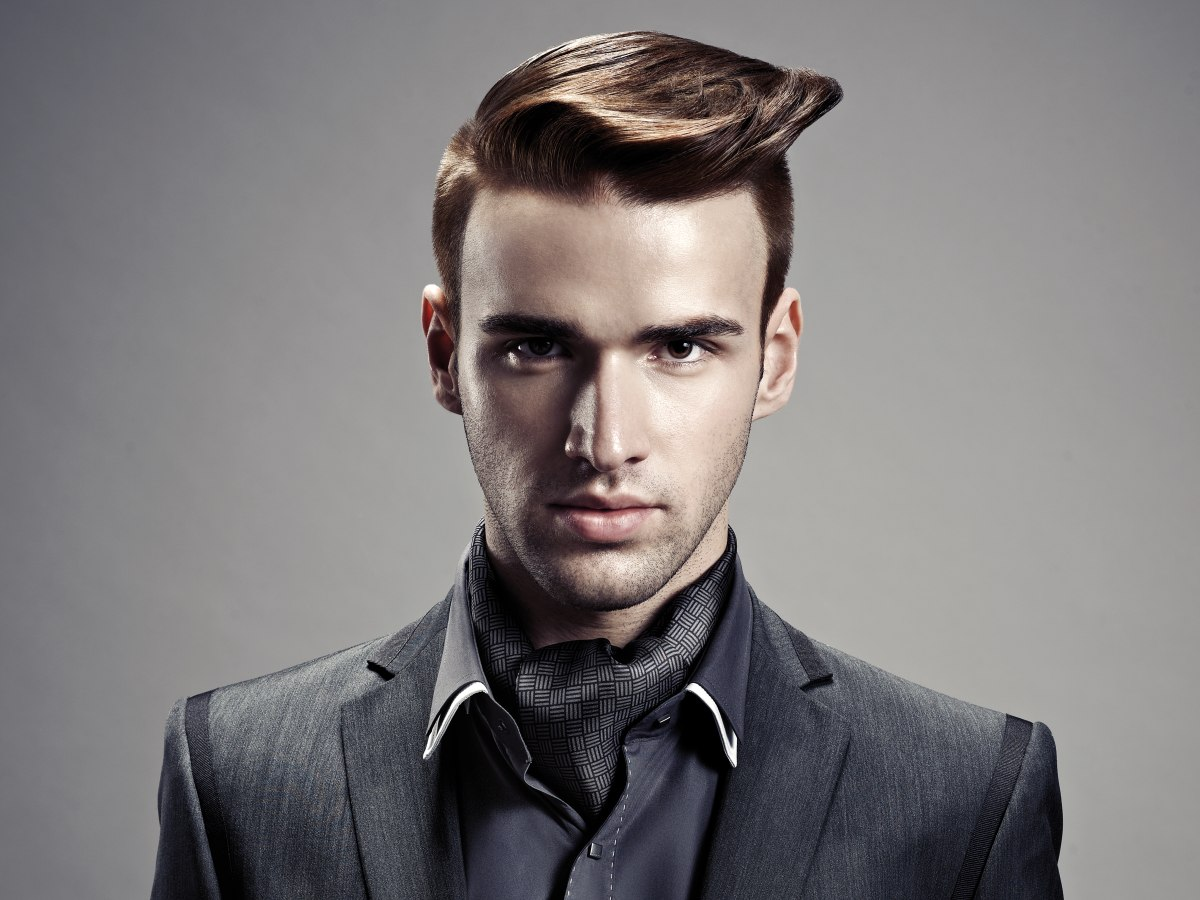 Coiffure Rockabilly Homme Men 39s Haircut With A Quiff