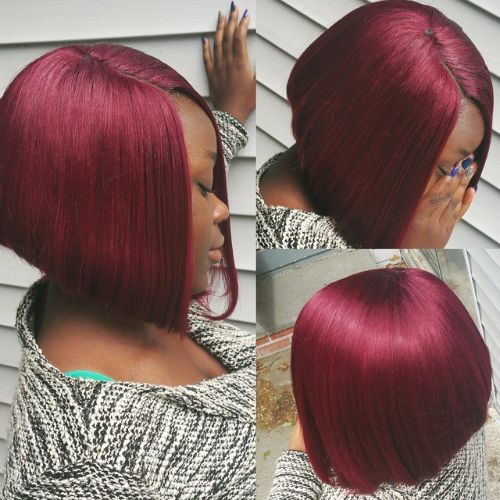 burgundy and blue hair color