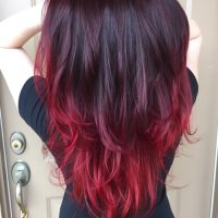 Blood Red Hair Color Pictures | Best Hairstyles 2018