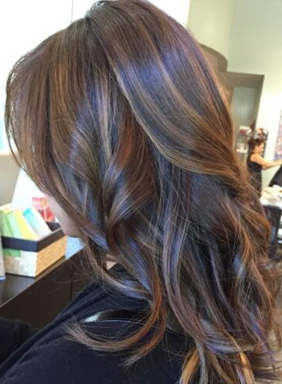 Natural Blonde Highlights On Dark Brown Hair Mocha Hair Color Brown Chocolate Caramel Dark Light
