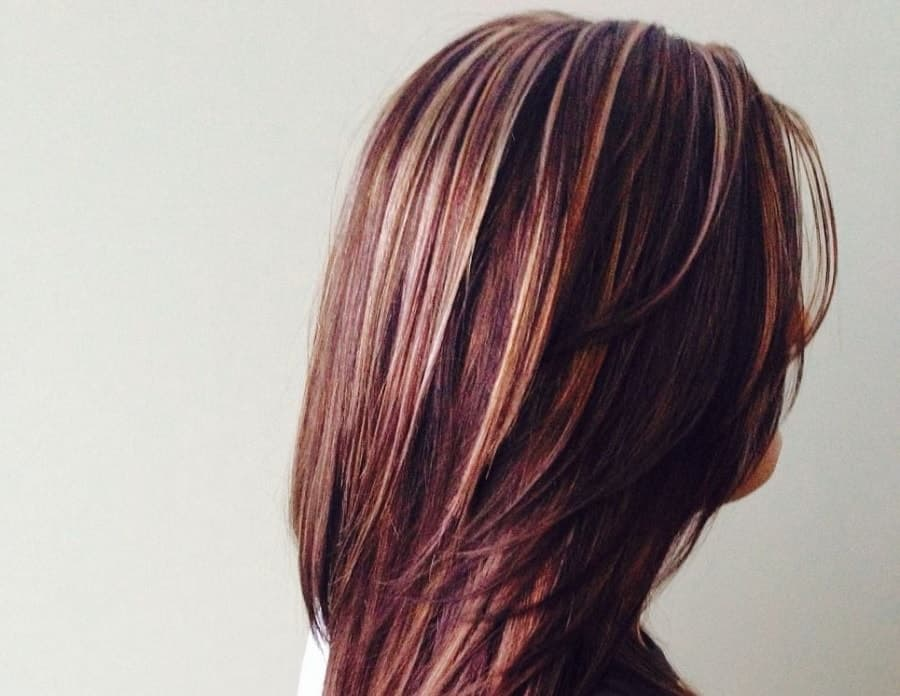 Bob Hair In French 7 Beautiful Burgundy Hairstyles With Blonde Highlights