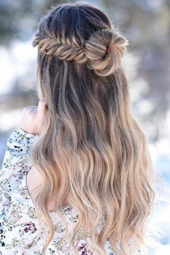Effortless Long Hairstyles Stylish Prom Hairstyles Half Up Half Down