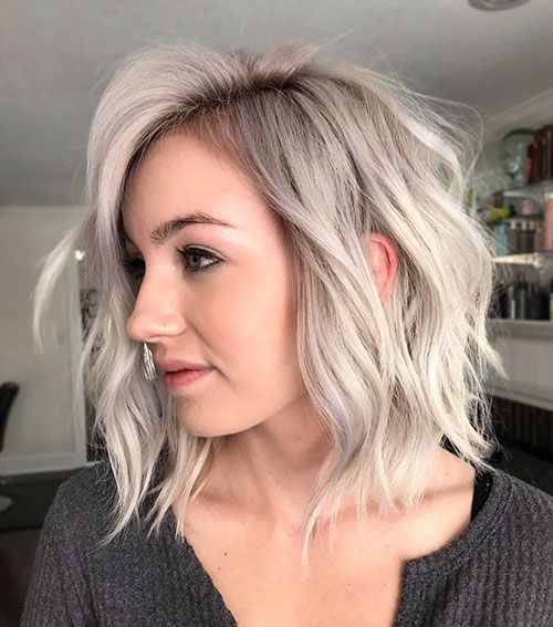 Dark Brown Balayage Long Bob 35 Stunning Ash Blonde Hair Color Looks