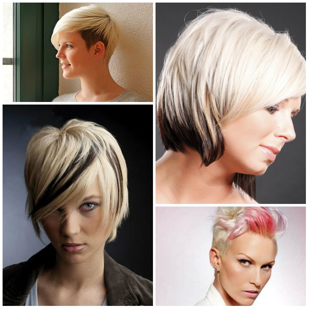 Haircuts Hairstyles 2016 Two Tone Hair Colors For Short Haircuts 2019 Haircuts