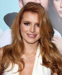 Bella Thorne Long Straight Casual Hairstyle - Light Red ...