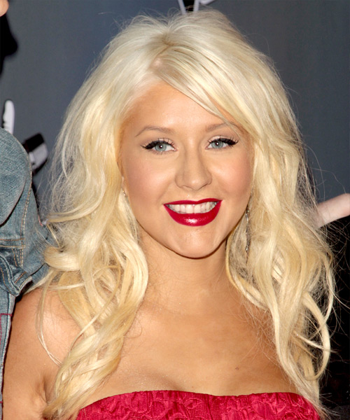 Layered Pixie Cut Christina Aguilera Long Wavy Light Golden Blonde Hairstyle