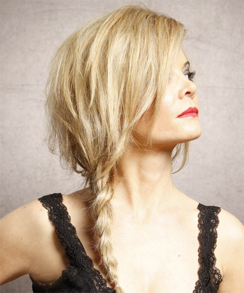 Haircut For Fine Mid Length Hair Long Straight Golden Blonde Braided Half Up Hairstyle With