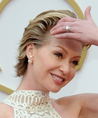 Portia De Rossi Short Straight Formal Hairstyle - Chestnut ...