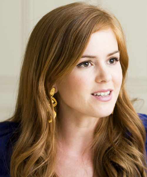 Wallpaper Emo Girl Style Isla Fisher Long Wavy Casual Hairstyle