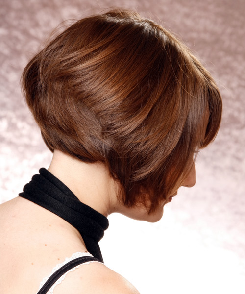 Mens Cut Hairstyles Formal Short Straight Bob Hairstyle - Chestnut Hair Color