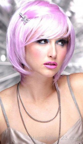 Pixie Cut Choppy Pink Bob Hairstyle