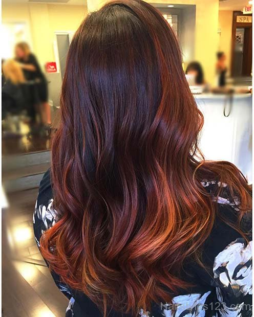 Caramel Balayage On Straight Hair Wavy Hairstyles Page 2