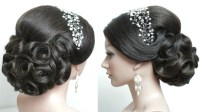 Bridal hairstyle for long hair tutorial. Prom updo step by ...