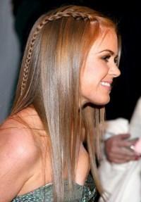 Long Sleek Hairstyle With Braid - Hairstyles Weekly