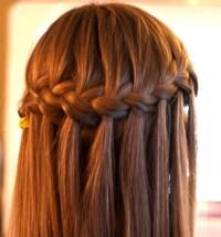 Waterfall Braid Hairstyle - Classic Waterfall Braid for ...