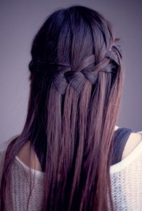 Waterfall Braid for Long Straight Hair - Sleek Long ...