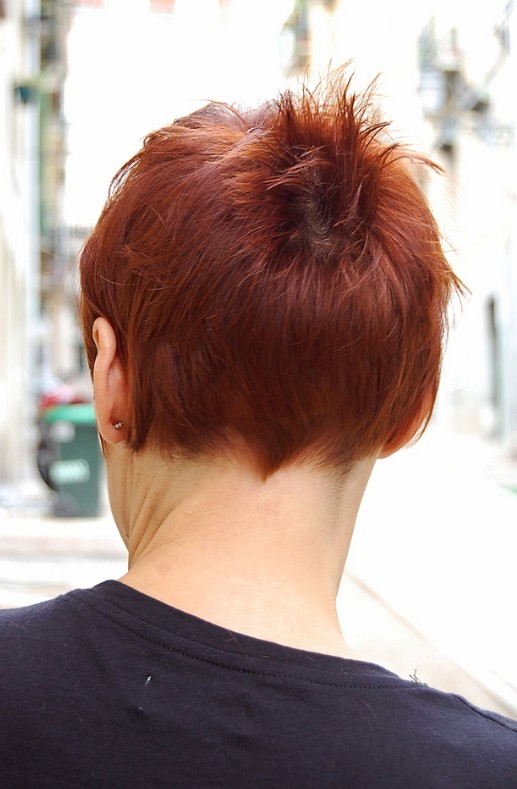 Pixie Cuts With Wavy Hair Short Chic Red Haircut With Short Stylish Straight Bangs