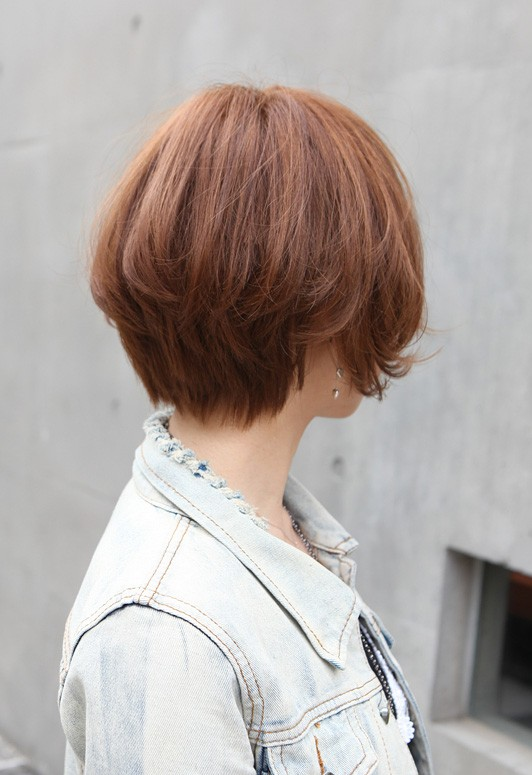 Female Asian Haircut Trendy Short Copper Haircut From Japan Stacked Short