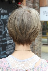 Home Design Interior Short Hairstyles Back View