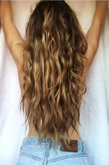 Layered Hairstyles Back Beachy Waves Back View Of Sexy Long Wavy Beach Hair