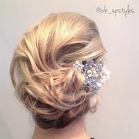 35 Romantic Wedding Updos for Medium Hair  Wedding ...