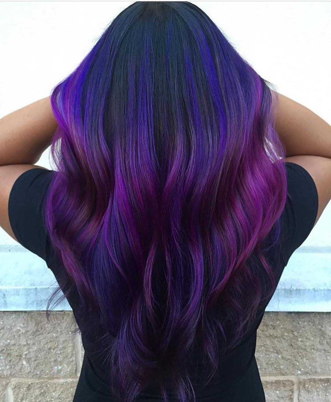 Lila Blaue Haare 50 Stylish Dark Purple Hair Color Ideas Destined To