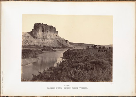 Andrew J. Russell. Castle Rock, Green River Valley.