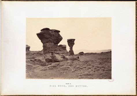 Andrew J. Russell. Dial Rock, Red Buttes.