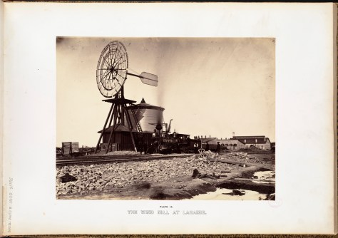 Andrew J. Russell. The wind mill at Laramie.