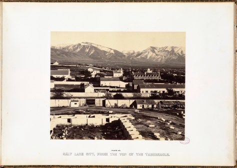 Andrew J. Russell. Salt Lake City, from the top of the Tabernacle.