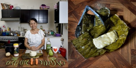 Laura Ronz Herrera, 81 years old. Veracruz, Mexico. Vegetarian Tamal.