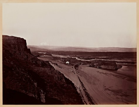 Carleton Watkins. Mt. Hood and the Dalles, Columbia River, 1867.