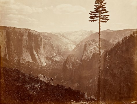 "Carleton Watkins. The Yosemite Valley from the ""Best General View"" 1866."