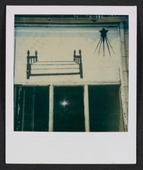 Ray Yoshida. Detail of a Chicago storefront, between 1972 and 1981.