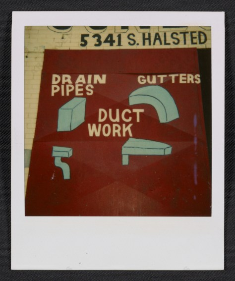 Ray Yoshida. Detail of a commercial sign in Chicago, between 1972 and 1981.