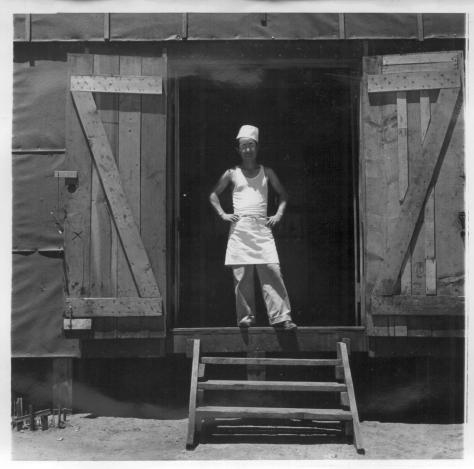 Dorothea Lange. Manzanar, California. 7/2/42. A chef of Japanese ancestry at this War Relocation Authority center. Evacuees find opportunities to follow their callings.