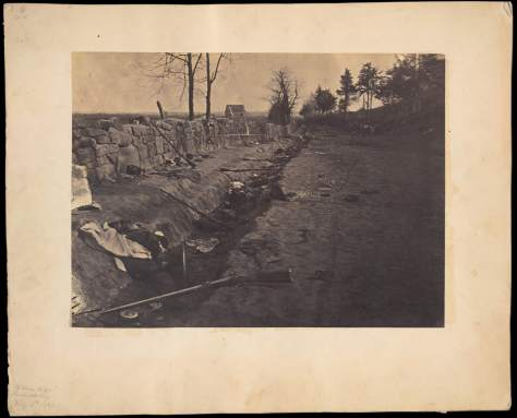 Andrew J. Russell. Behind Stone Wall, Marye's Heights, Fredericksburg, Virginia, May 3, 1863.