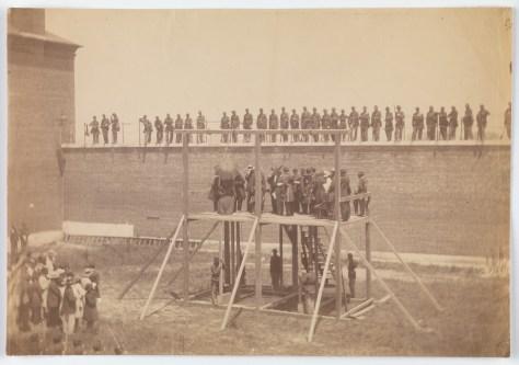 Alexander Gardner. Execution of the Conspirators.