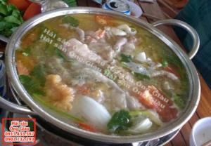 Cá trắm giòn nấu với thịt gà