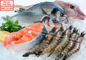 Mẹp lựa chọn hải sản tươi sống.