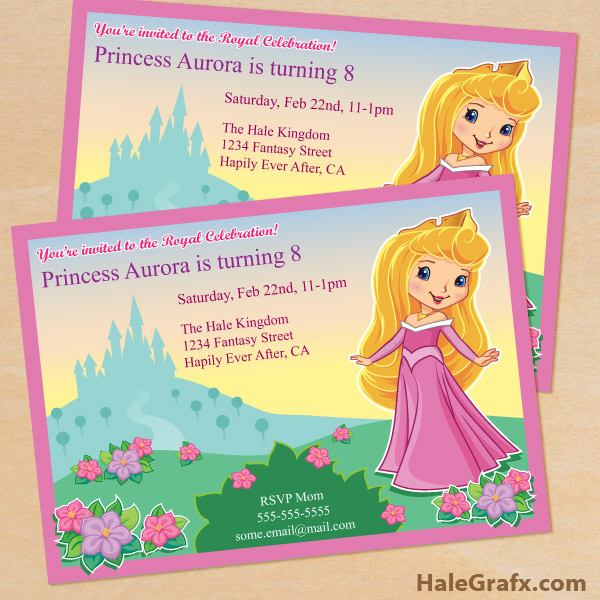 Free Printable Princess Birthday Party Invitations. Create An Online Resume