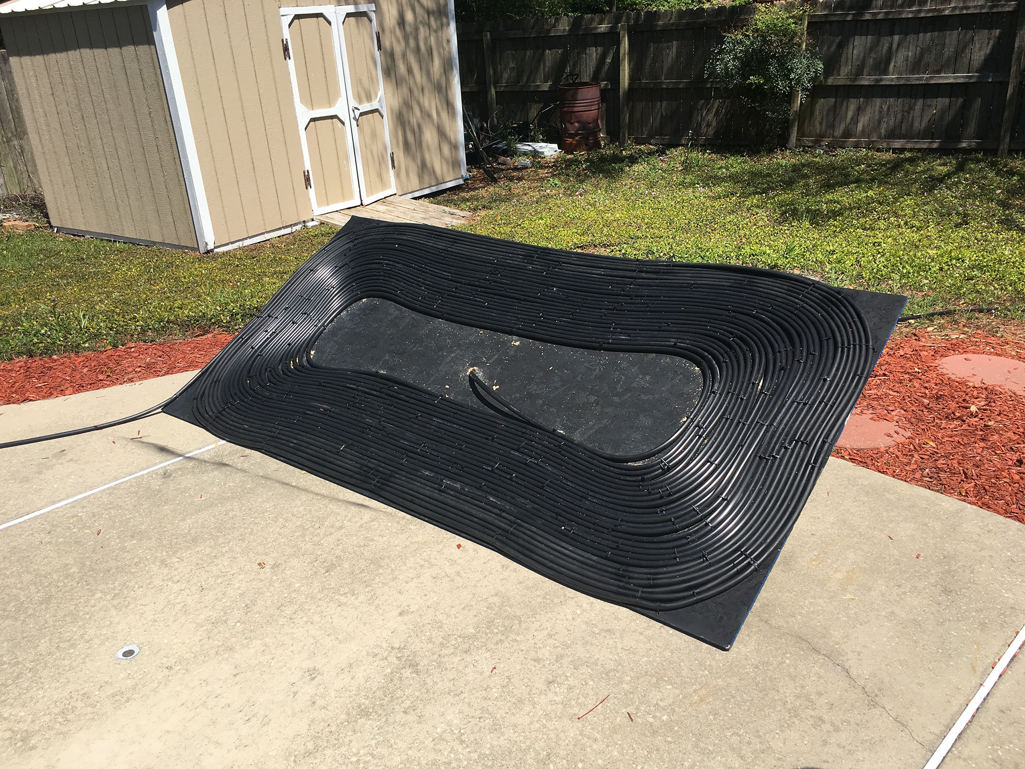 Homemade Pool Water Heater Diy Solar Pool Heater Black Hose Half Ass Craftsman