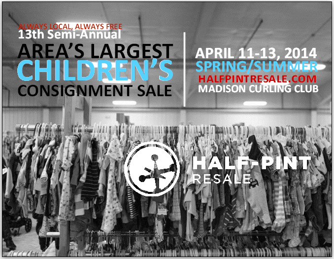 Save the date! Half-Pint Resale, LLC