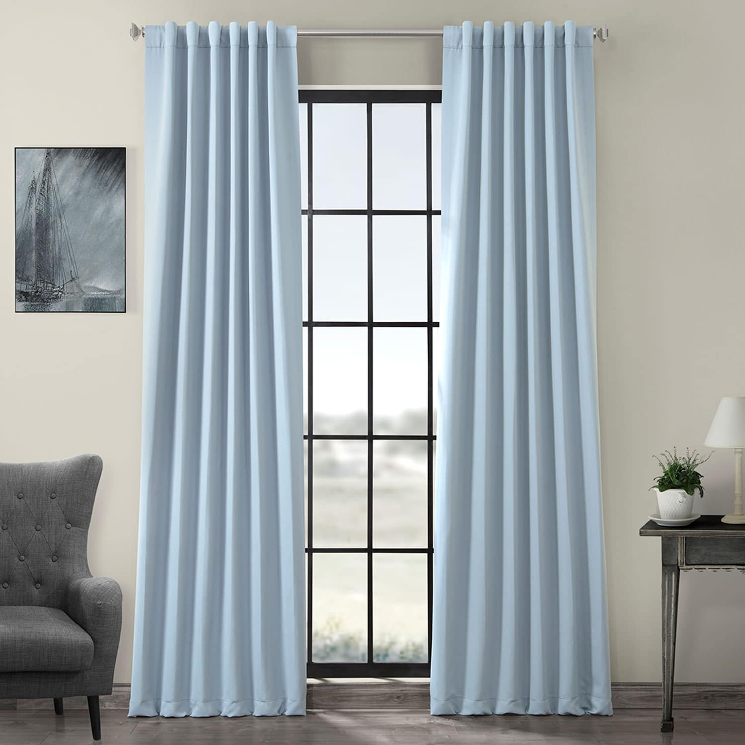 Curtains For A Blue Room Frosted Blue Room Darkening Curtain