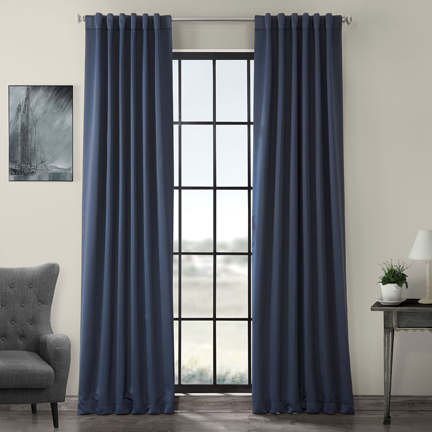 Curtains For A Blue Room Nocturne Blue Room Darkening Curtain