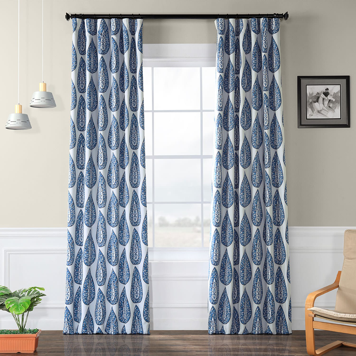 Curtains For A Blue Room Medallion Blue Room Darkening Curtain