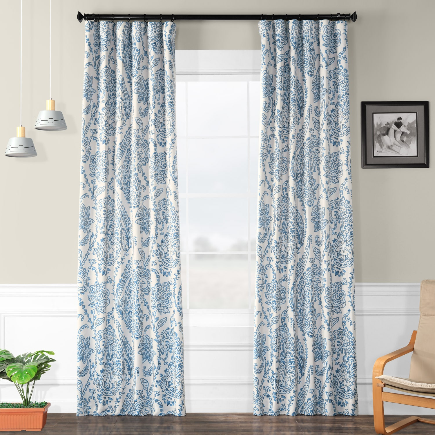 Curtains For A Blue Room Tea Time China Blue Room Darkening Curtain