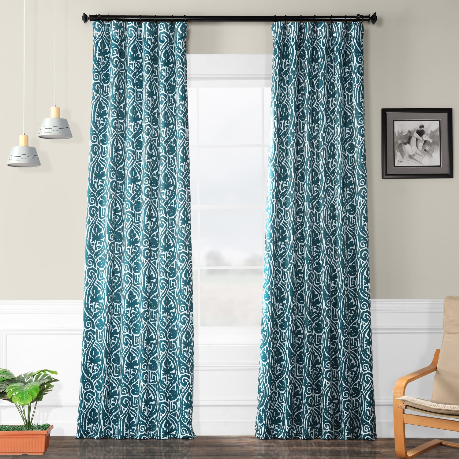 Teal Blackout Curtains Abstract Teal Blackout Curtain