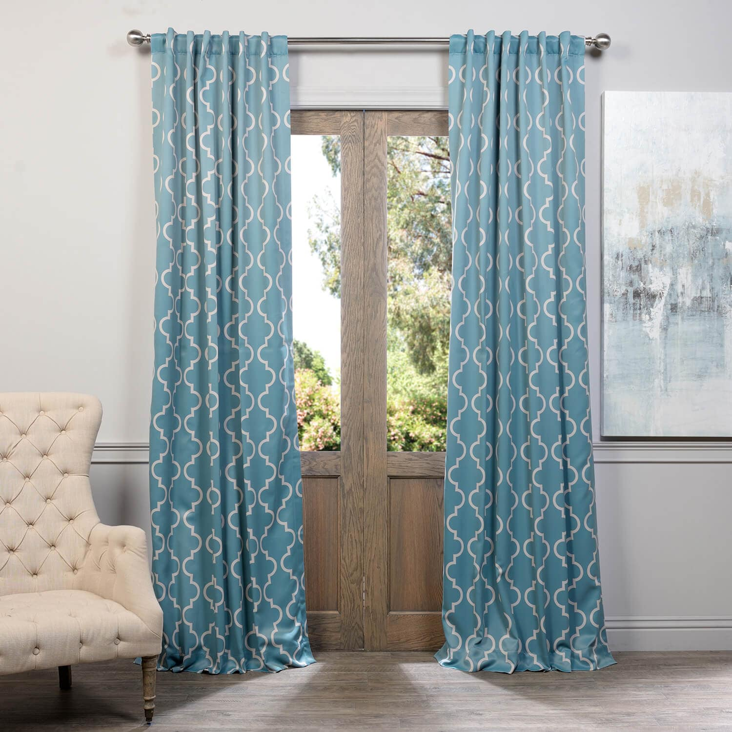 Teal Blackout Curtains Seville Dusty Teal Blackout Curtain