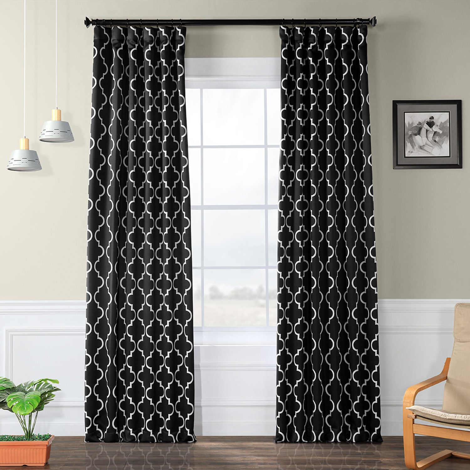 Curtain Deals Review Online Seville Black Blackout Curtain Deals Learn